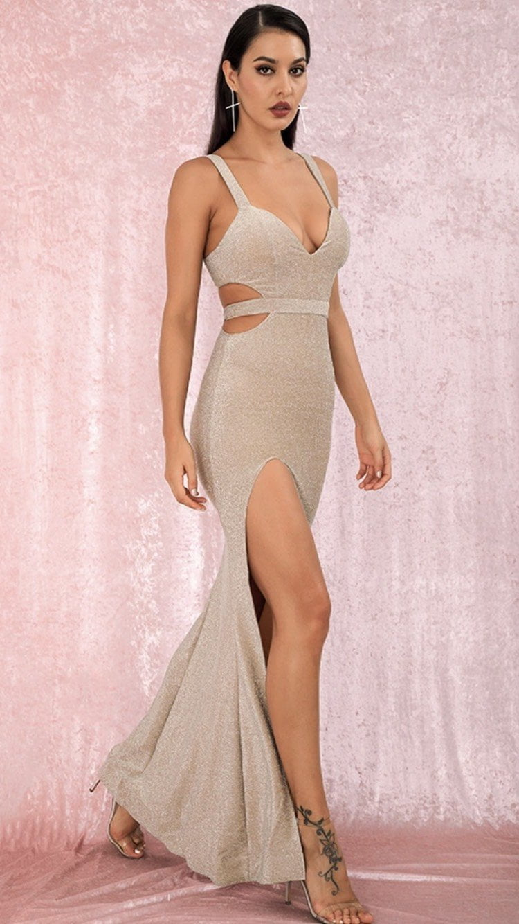 Jessica Bara Felicia Cut Out Gown