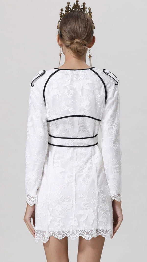 Jessica Bara Jessie Lace Embroidery Dress