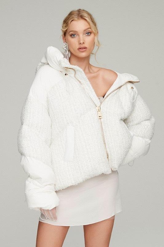 Nicole Benisti Matignon Tweed Winter White Jacket