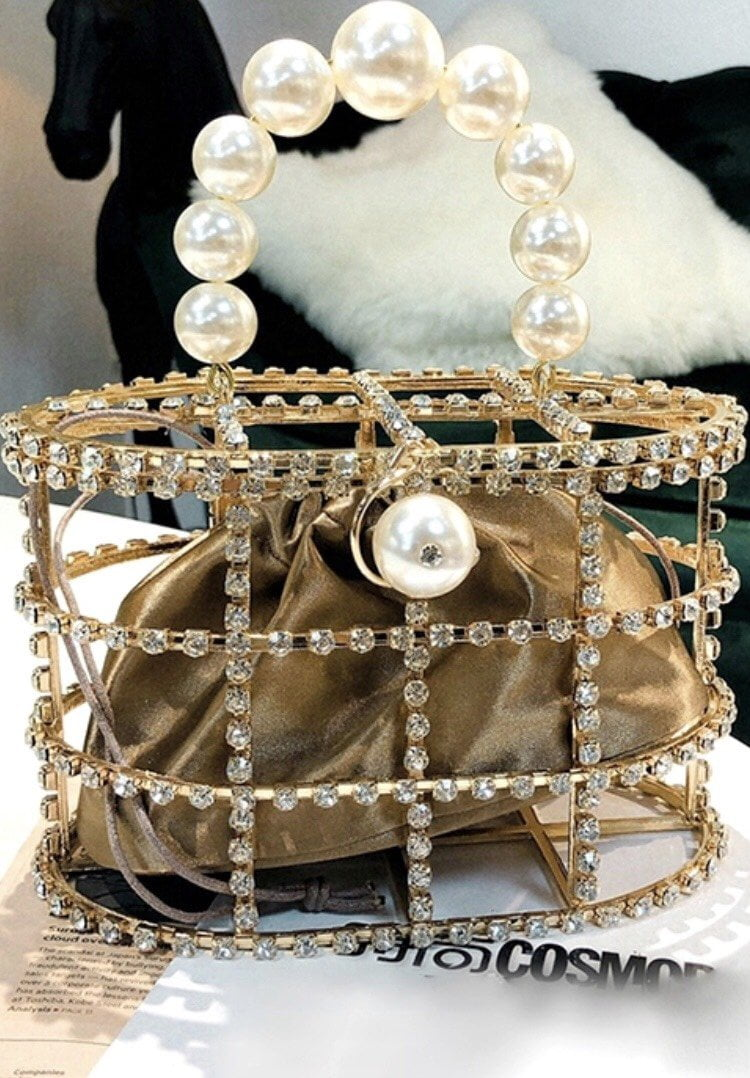 Jessica Bara Tammy Pearl and Diamond Clutch
