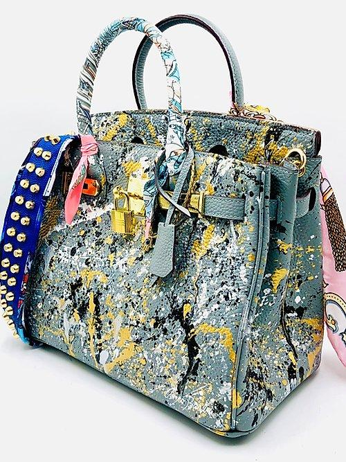 Anca Barbu One Of A Kind Custom Graffiti Handbag
