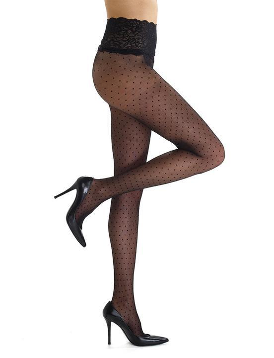 Commando Chic Dot Sheer Tights