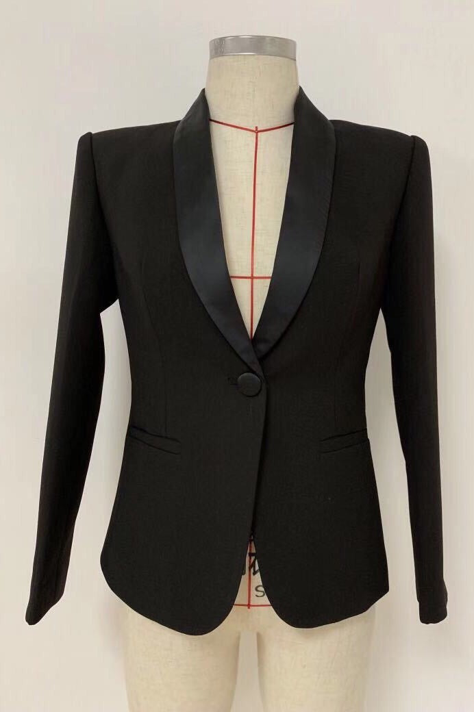 Jessica Bara Ellis Single Button Collar Blazer