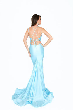 Atria V Neck Strappy Back Gown