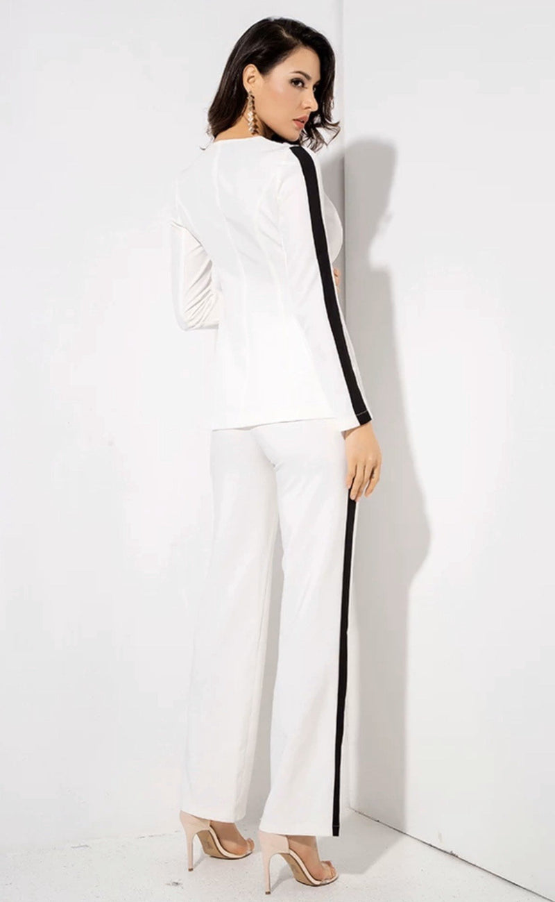 Jessica Bara Karyn Blazer and Pant Two Piece Set