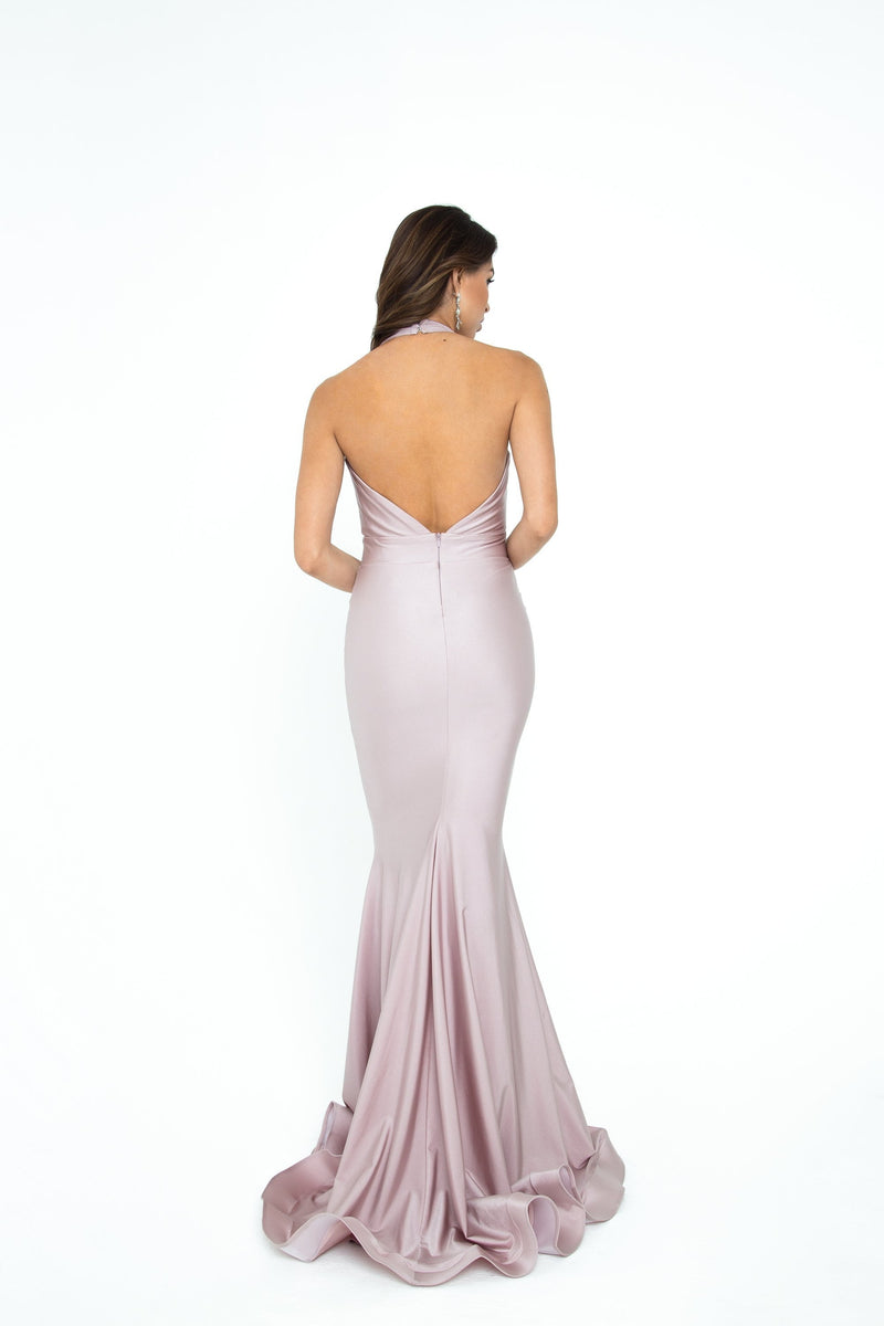 Atria Halter Neck Bodycon Gown
