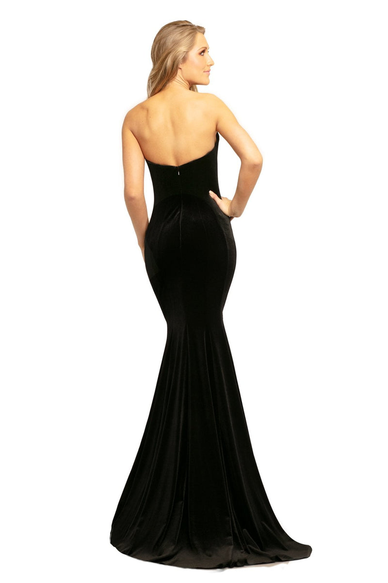 Johnathan Kayne Strapless Embellished Gown
