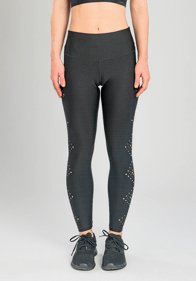 Active Fit Black Laser Cut Legging