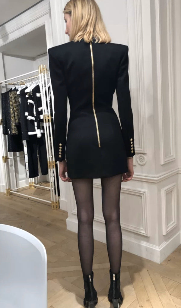 Jessica Bara Ensley Long Sleeve Blazer Mini Dress