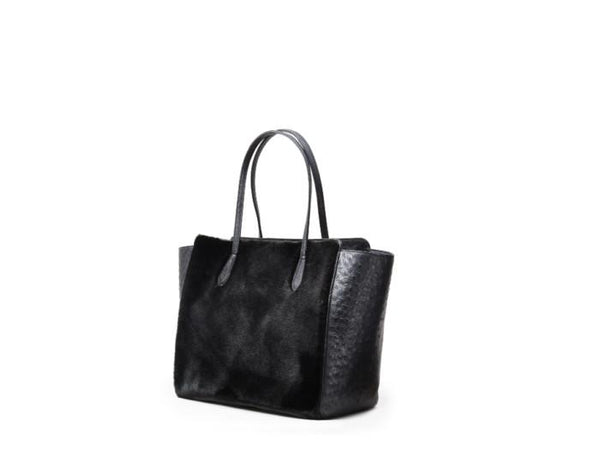 Meredith Ray Faux Fur Ostrich Tote