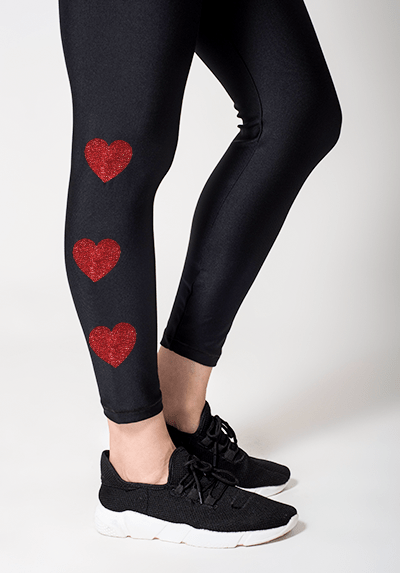 Active Fit Infinity Red Hearts Legging