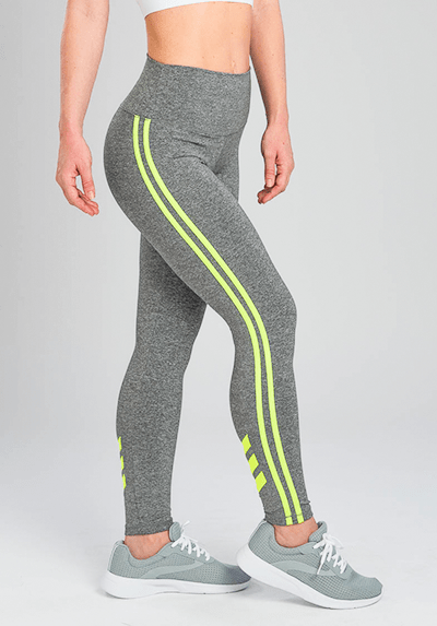 Active Fit Influence Neon Yellow Chevron Legging