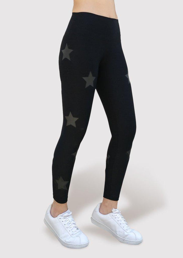 Active Fit Infinity Black Stars Legging