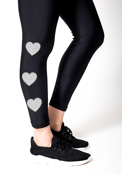 Active Fit Infinity White Hearts Legging