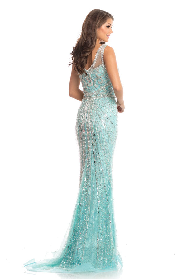Johnathan Kayne Beaded Lace Gown