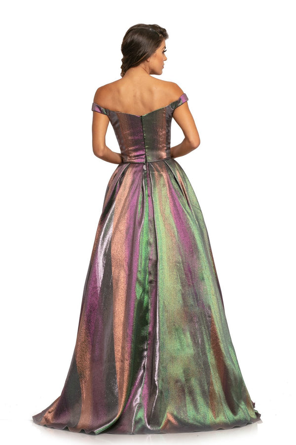 Johnathan Kayne Off The Shoulder Ombre Gown