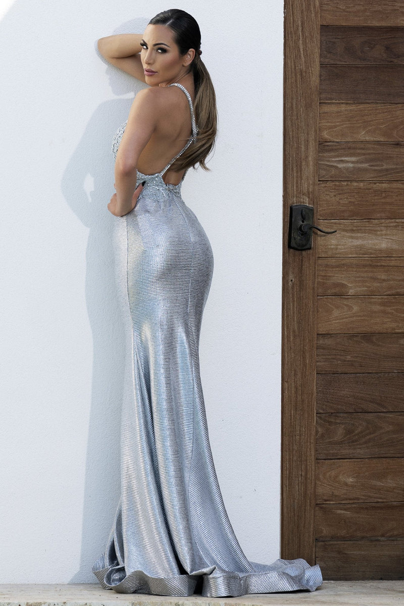 Baccio Andrea Bodycon Hand Painted Gown