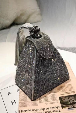 Jessica Bara Brittney Diamond Box Clutch