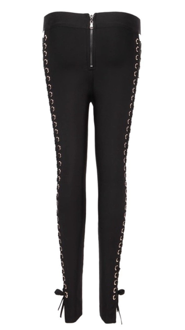 Jessica Bara Kali Cross Stretch Lace Up Pants