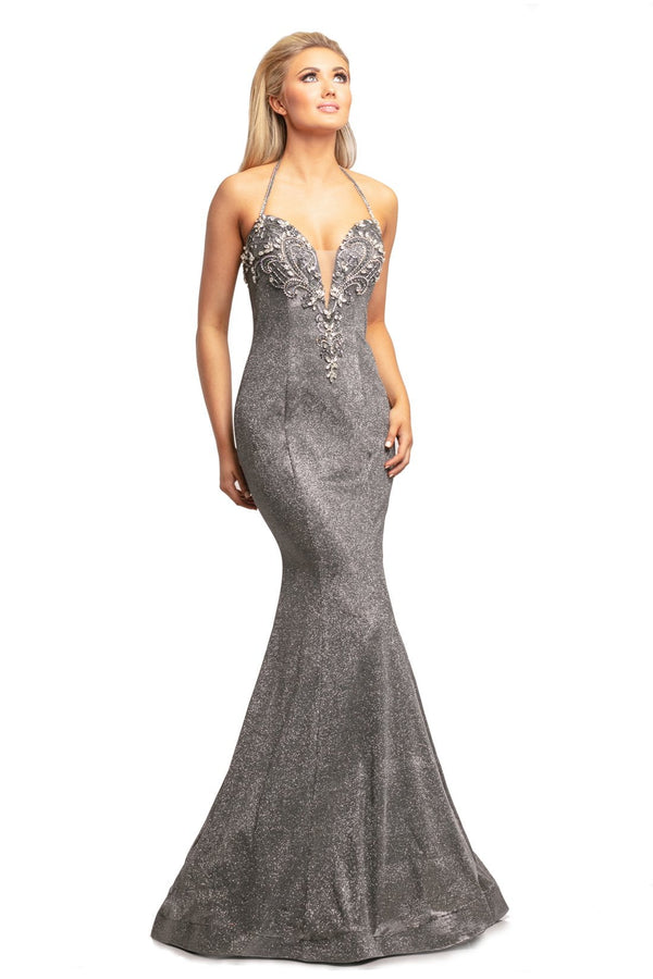 Johnathan Kayne Beaded Glitter Gown