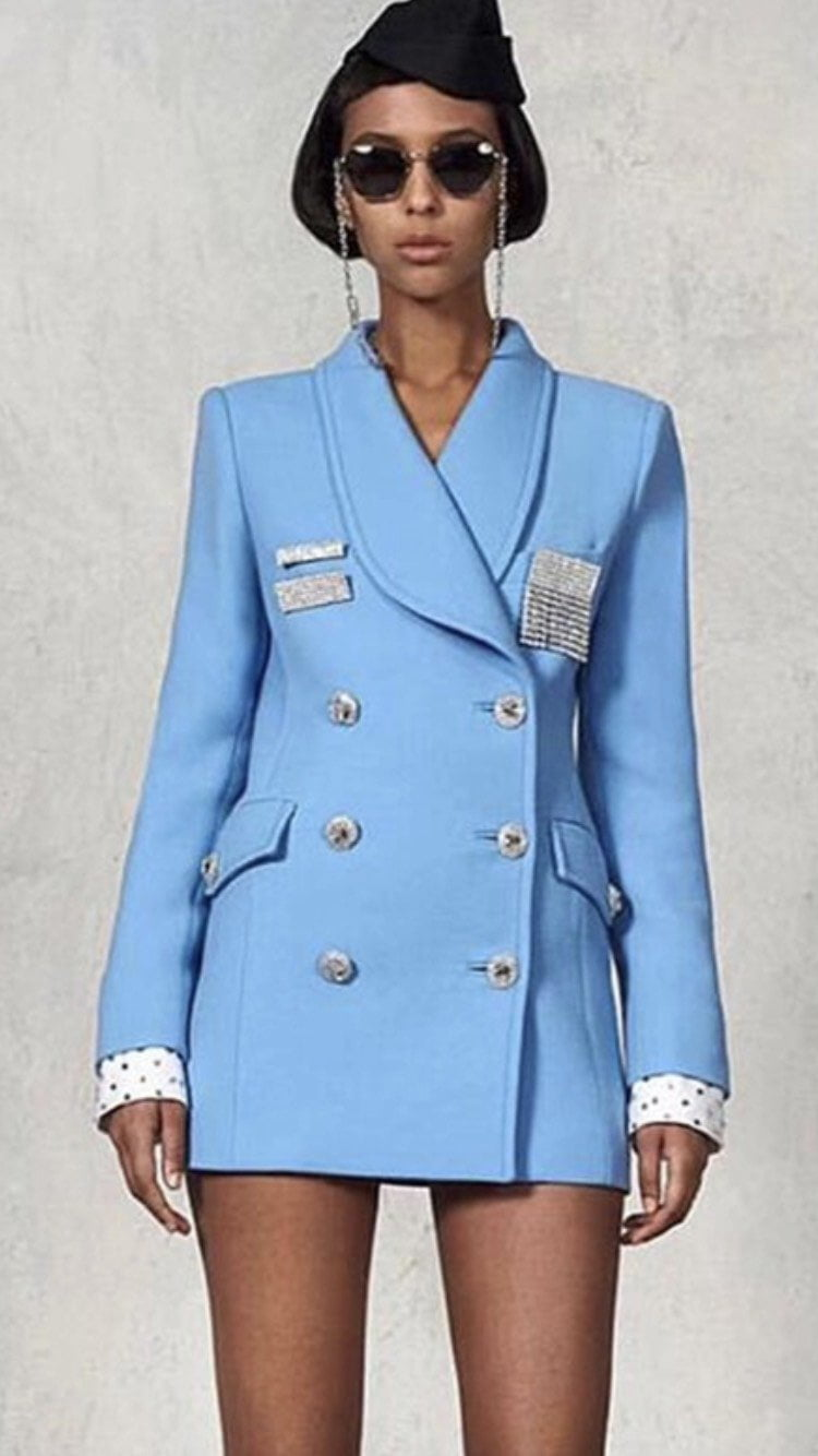 Jessica Bara Dori Blazer Jacket Dress