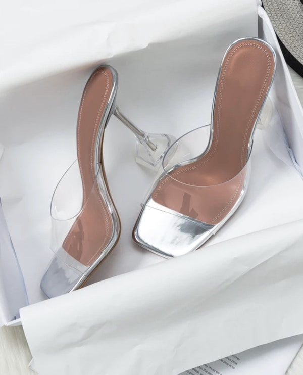 Jessica Bara Ryan Open Toe Clear Heels