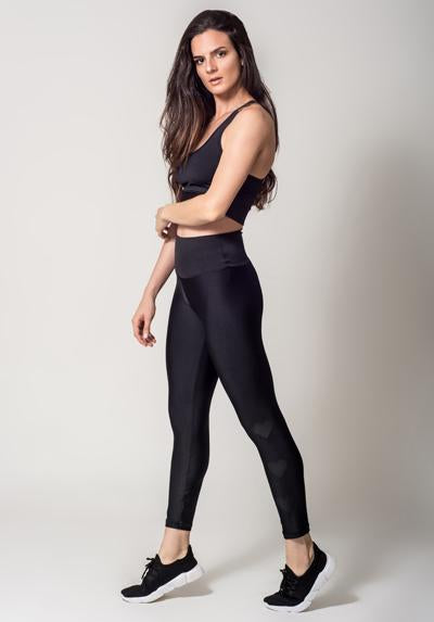 Active Fit Infinity Black Hearts Legging