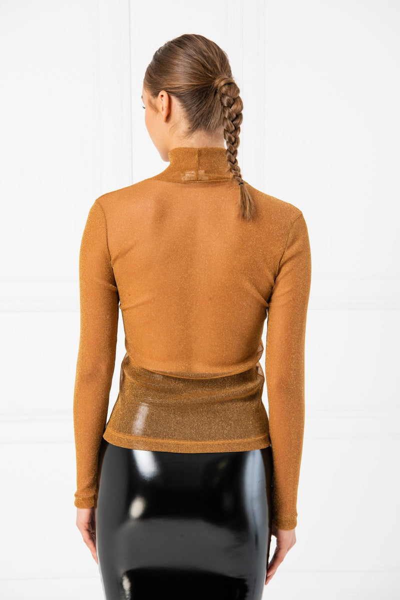 Jessica Bara Amelie Long Sleeve Sheer Top