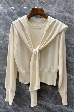 Jessica Bara Kimberly Sweater with Shawl Collar