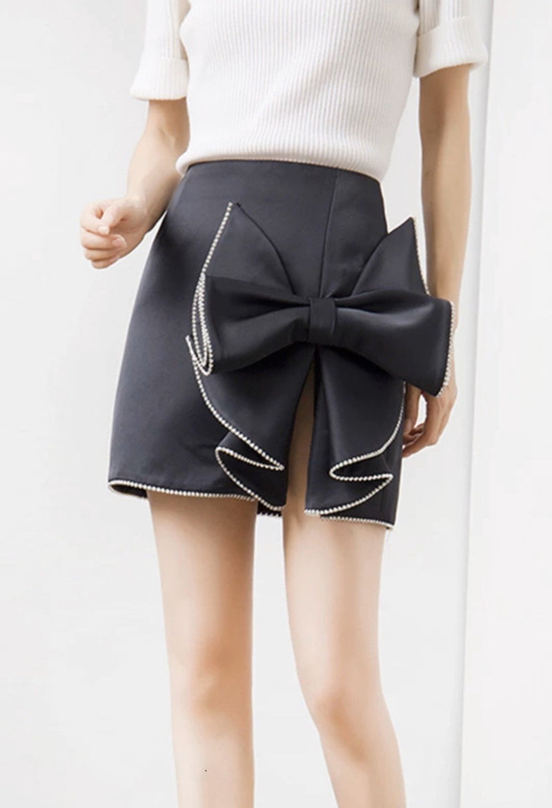 Jessica Bara Salome High Waisted Bow Mini Skirt
