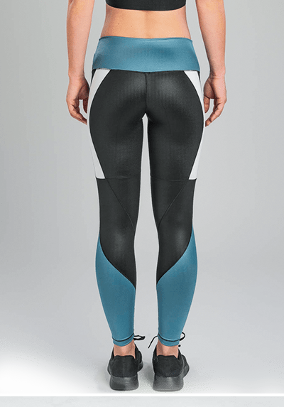 Active Fit Insignia Bleu Shine Color-Block Leggings