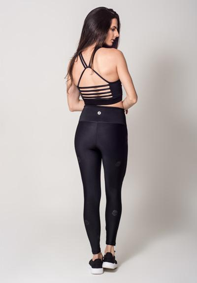 Active Fit Infinity Black Skulls Legging