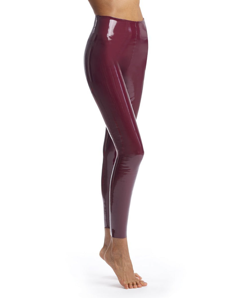 Commando Burgundy Faux Patent Leather Leggings With Perfect Control