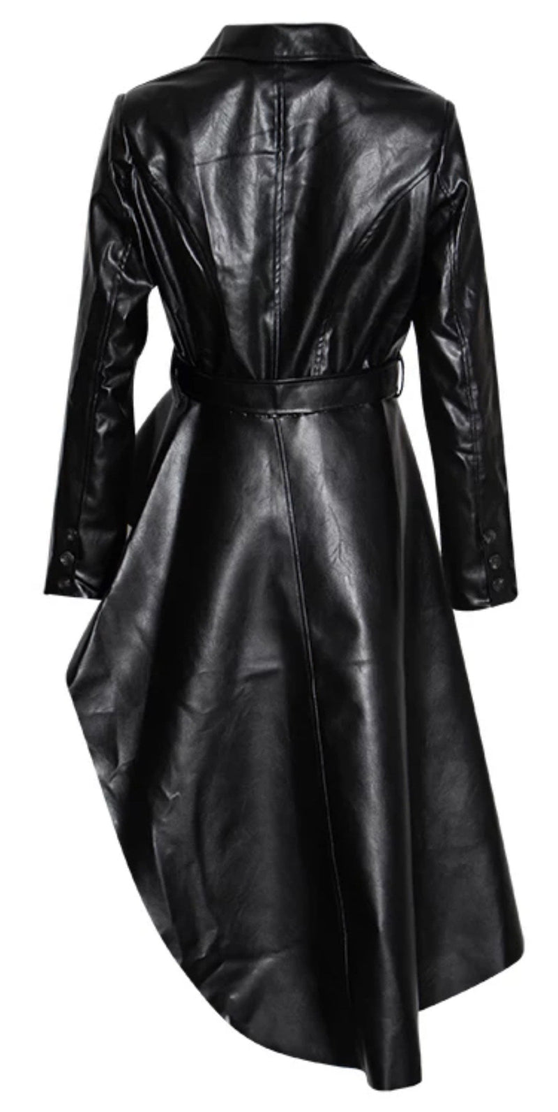 Jessica Bara Alannah Asymmetrical Belted Leather Jacket