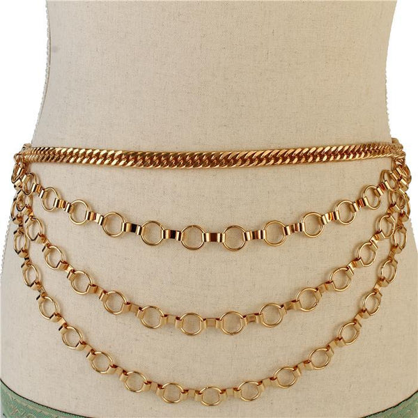 Jessica Bara Sassy 4 Layer Chain Belt