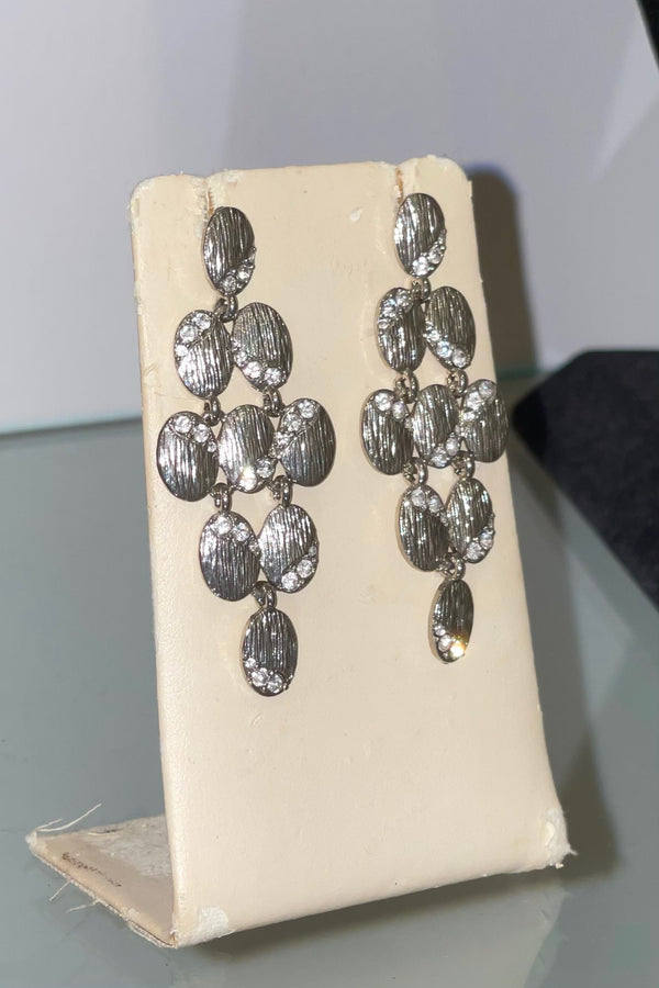 Jessica Bara Jasmine Silver Plated Dangle Earrings