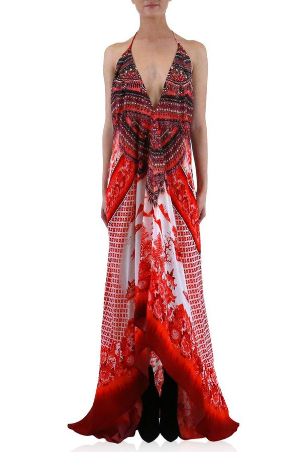 Shahida Parides Porcelain Print 3 Ways to Wear Maxi Dress
