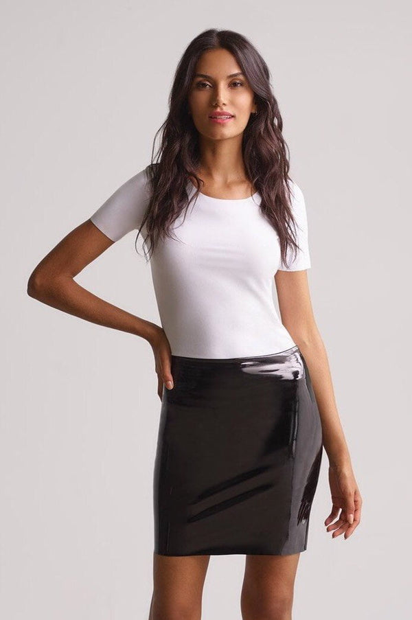 Commando Faux Patent Leather Mini Skort