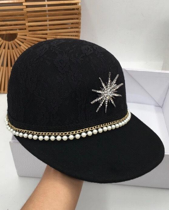 Jessica Bara Heidi Diamond Lace Baseball Hat