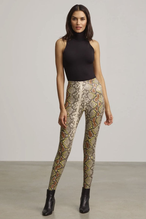 Commando Faux Leather Animal Print Legging
