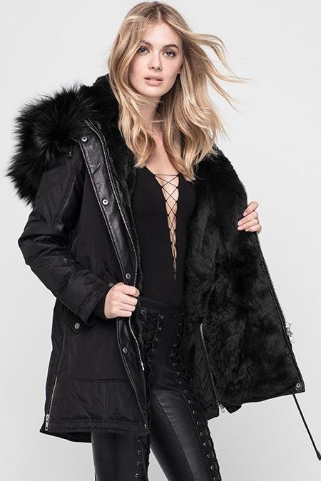 Nicole Benisti Chelsea Fur Lined Down Jacket