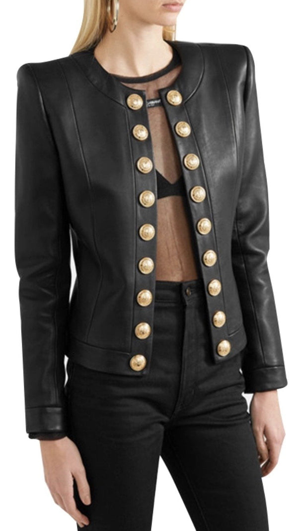 Jessica Bara Clara PU Leather Jacket