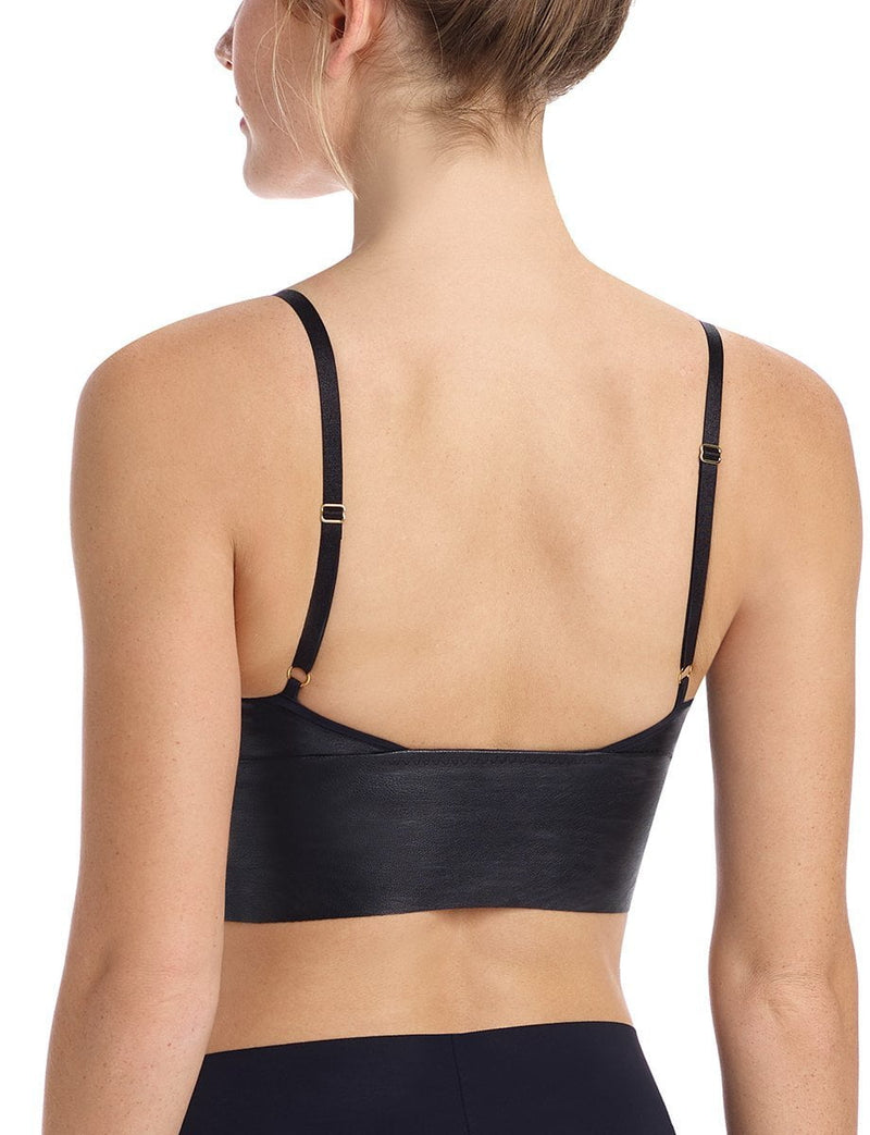 Commando Faux Leather Long Line Bralette