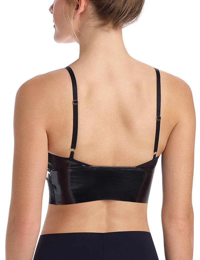 Commando Faux Patent Leather Long Line Bralette