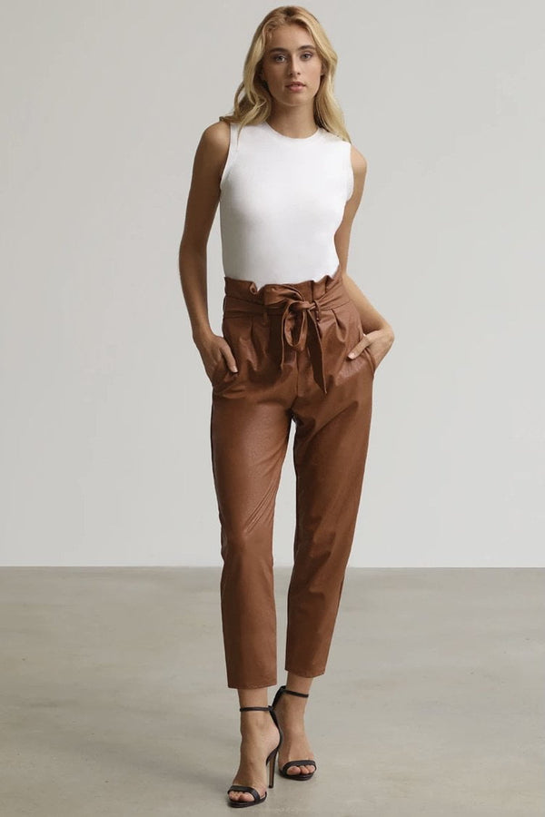 Commando Faux Leather Paperbag Pants