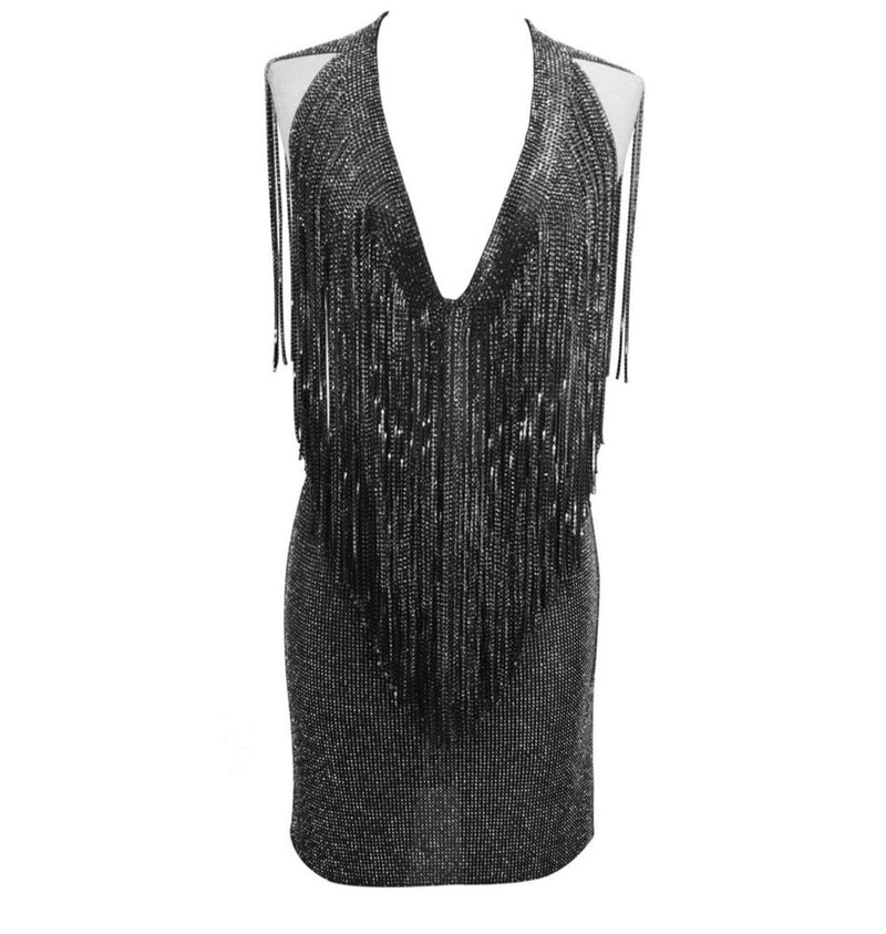 Jessica Bara Riri Crystal Fringe Two Piece Set
