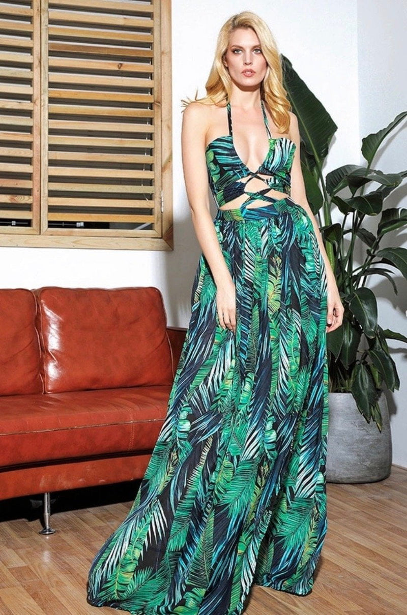 Jessica Bara Lovey Cut Out Maxi Dress