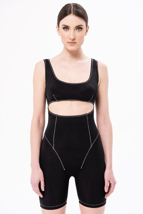 Jessica Bara Famous Knit Cut Out Bodysuit