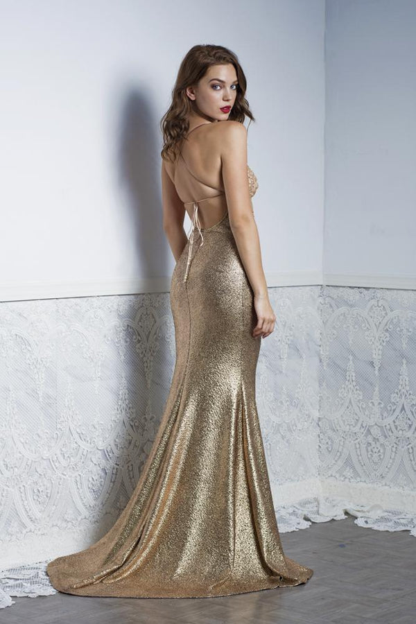 Baccio Liz Caviar Long Dress