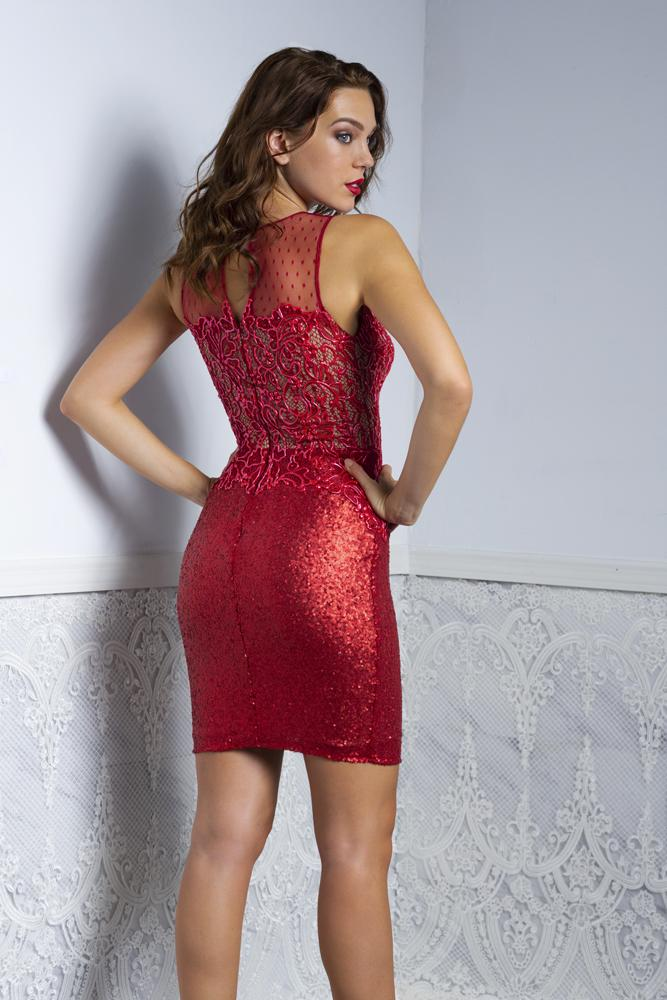 Baccio Rachel Sequins Paint Short Dress